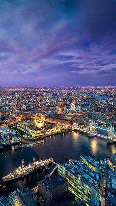 ~ 'Evening Lights Over The River Thames' London ~ Places To Travel, Places To See, Places Around The World, Around The Worlds, Destination Voyage, River Thames, Future Travel, London City, London Night
