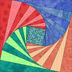 Twisted Logs Pattern - 6 Inch Block - Instant Download - Paper Pieced - Quilt Pattern - Block Pattern - PDF - Modern Quilt Block
