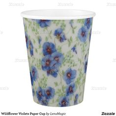 Wildflower Violets Paper Cup