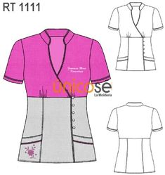 free tunic sewing patterns for women - Hľadať Googlom Sewing Paterns, Tunic Sewing Patterns, Sewing Blouses, Tunic Pattern, Clothing Patterns, Medical Uniforms, Work Uniforms, Nursing Uniforms, Salon Wear