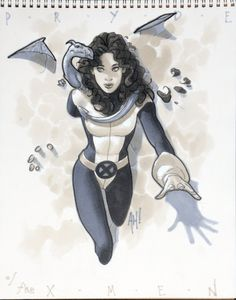 """"""" Kitty Pryde of the X-Men by Adam Hughes """" Comic Book Artists, Comic Book Characters, Comic Artist, Marvel Characters, Comic Character, Comic Books Art, Character Design, Kitty Pryde, Adam Hughes"""