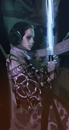 Jedi Leia by medders
