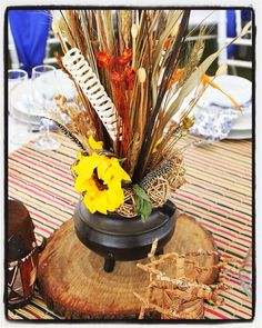 Traditional African wedding centerpieces and decor. www.facebook.com/joburgtents or SecundaTents&Events African Wedding Theme, African Theme, Tropical Wedding Centerpieces, Wedding Decorations, Table Decorations, Wedding Ideas, Zulu Traditional Wedding, Traditional Decor, Zulu Wedding