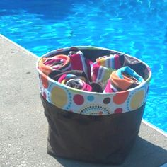 Thirty-One Mini Utility Bin ... keep it pool side for all your towels and sunscreen.