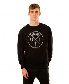 Logo Sweatshirt in Black Graphic Sweatshirt, T Shirt, Hoodies, Sweatshirts, Logo, Long Sleeve, Sleeves, Mens Tops, Collection