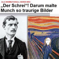 Darum malte Munch so traurige Bilder Baseball Cards, Malta, The Scream, Sad Pictures