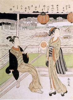 Fanciful Poets of the Four Seasons: The Sixth Month  c. 1768-1769 Harunobu, Suzuki  Japanese (1724-1770)