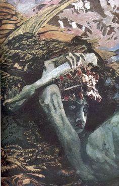 М.А. Врубель - Демон поверженый (фрагмент)