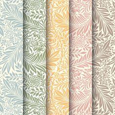 Vintage Illustration of Larkspur by rawpixel on Wallpaper Gratis, William Morris Patterns, Floral Pattern Wallpaper, Fabric Wallpaper, Fall Color Palette, Hand Drawn Flowers, Creative Illustration, Flower Backgrounds, Vintage Patterns