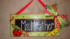 Teacher Name Sign by SunshineSignDesigns on Etsy, $40.00