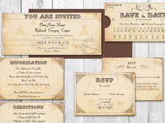 Faire-part de mariage billet de TRAIN imprimable - suite de la Nouvelle-Orléans