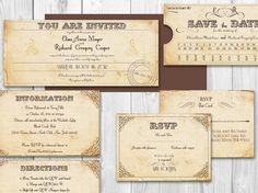 TRAIN TICKET PRINTABLE wedding invitation  by DesignedWithAmore