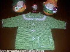 Cardigan verde di lana