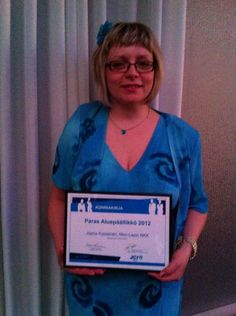 Jaana Kupiainen was rewarded as the best project manager in the JCI Regional Conference in Rovaniemi 22.-24.3.2013.