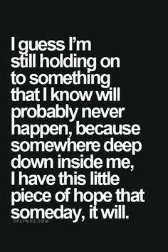 Somewhere deep down