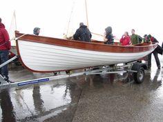 Glued plywood Whitehall skiff.  photo by Emma Brice