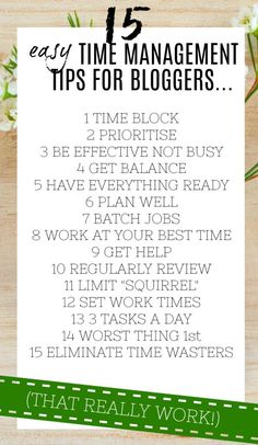 Time management tips for bloggers that you need to follow to get the most out of your day. Use these time hacks to maximise your time, and make more time for everything you want to do in life - including family, friends, home, work etc.... #timemanagement #tips #lifehacks #blogging