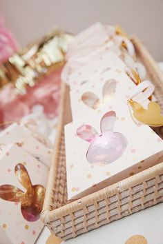 PINK AND GOLD BUNNY THEMED FIRST BIRTHDAY