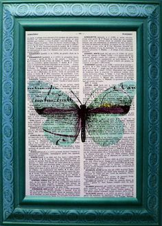 Butterfly Vintage Dictionary Art