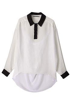 Auraaira  Camisa de gasa de vuelta