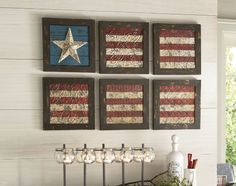 6-piece Flag Wall Art - this has kim's name written all over it!