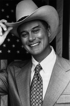 Larry Hagman as J.R. Ewing - that smile always did mean trouble!
