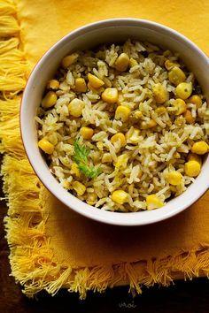 Corn Pulao (vegan)