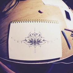 Underboob tattoo sketch