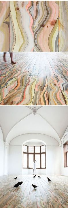 I want it in the kitchen in blue or on the livingroom wall in grey and blue. art ... on the FLOOR! marbled wood by pernille snedker hansen <3