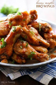 Ailes de poulet au miel, sirop d'érable et sauce BBQ - Recettes - Recettes simples et géniales! - Ma Fourchette - Délicieuses recettes de cuisine, astuces culinaires et plus encore!