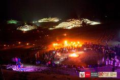 Ciudad Sagrada de Caral ilumidado por sus 19º Aniversario