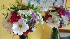 British flowers all grown from seed, that's what you get from my flower farm. Bridesmaid's posies, divinely scented too.