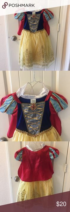 Disney's Snow White Costume Like new, only one mark on cape from ironing (whoops) Disney Costumes Halloween