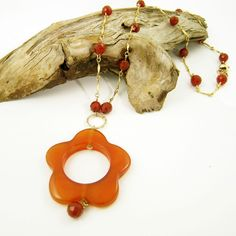 Carnelian (Karatha, Western Australia) and gold-filled necklace by Gemtation Jewellery Western Australia, Carnelian, Handcrafted Jewelry, Jewelry Crafts, Gemstone Jewelry, Jewellery, Gemstones, Earrings, Gold