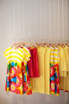 Marimekko - could replicate this combo of stripes and floral in a work shirt