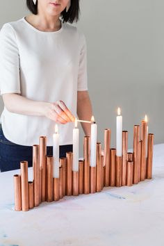 Un centre de table en cuivre - Corentine Studio Créatif