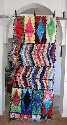 Moroccan boucharweit rug