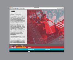 Website for Mercedes F1 test driver Daniel Juncadella designed by Mucho