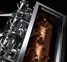 LONDINIUM III, an over engineered lever espresso machine Coffee Machine Design, Coffe Machine, Espresso Machine, Coffee Culture, Coffee Shop, Chocolate, Mirror, Color, Espresso Coffee Machine
