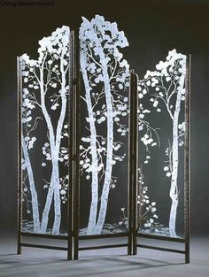 Etched Aspen Tree Screen...this is gorgeous! I would love to have this.