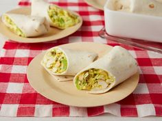 Ina's Curried Chicken Wraps