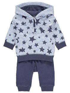 Give your little twinkle toes an adorable start to the day with this cotton-rich 2 piece set. Featuring a star printed hoodie and cosy joggers, it's a dazzli. Asda, Settee, Star Print, Latest Fashion For Women, Joggers, Natural Baby, Hoodies, Cosy, Sweaters