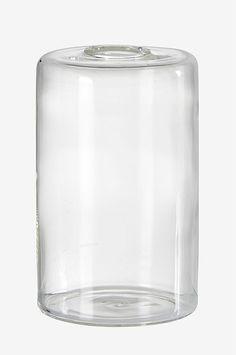 Vase CLEAN i glass. Ø 8 cm, høyde 13 cm My Glass, Glass Of Milk, Salt, Cleaning, House, Home, Salts, Haus, Houses