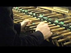 Jeremy Chesman Plays Carillon Bells - Third Prelude, Matthias Van Den Gheyn,  music available Eastman Sibley Library. Traditional carillon of 48 bells, Eijsbouts.    Pitch of heaviest bell is C  in the middle octave    Transposition is nil (concert pitch), i.e. one octave lower than Hopeman.    Keyboard range:     C C   /    C C 24    There is one missing bass semitone    The whole instrument was installed in 2001      with bells made by Eijsbouts   (source facts Towerbells.org)