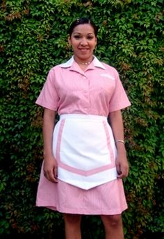 As a lowly male junior maid.she is your boss and supervisor in the house. Hotel Uniform, Maid Uniform, Uniform Dress, Waitress Outfit, Maid Outfit, Maid Dress, Jigsaw Costume, Beauty Uniforms, Housekeeping Uniform