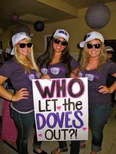 """#SigmaKappa """"Who Let The Doves Out"""" Bid Day theme! Super cute!"""