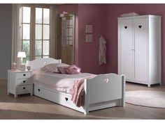 VIPACK Set Amori bestehend aus: Einzelbett, Bettschublade, Nachtkonsole und…