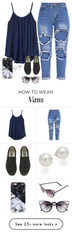 """""""Very cute, yet simple 32"""" by lollypopz951 on Polyvore featuring Gap, Vans, Quay and AK Anne Klein"""