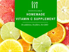 How to make your own vitamin c supplement at home - vitamin C powder, vitamin C tablets and Vitamin C drink recipes - without chemicals, fillers and GMO! Natural Home Remedies, Natural Healing, Herbal Remedies, Health Remedies, Alternative Therapies, Alternative Health, Health Tips, Health And Wellness, Health Benefits