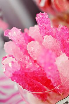 remember my pin about growing your own rock candy...this pink theme party is gonna be awesome!